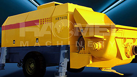 HBT60 Trailer Concrete Pump Mixer